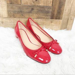 Zara Red Bow Kitten Heels